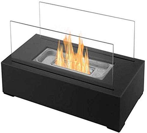 XIUYU Tabletop Bio Ethanol Indoor/Outdoor Portable Rectangle Freestanding Heater Fireplace (Size : A)