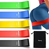 Resistance Bands, Exercise Workout Bands for Women and Men, 5 Set of Stretch Bands for Booty (Colorful)
