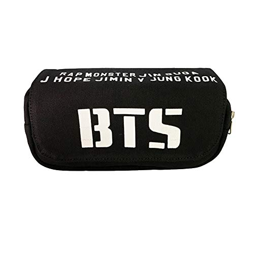 Kpop BTS Astuccio Stampa 3D Borse per Matite Tela Grande Capacit 2 Scomparti Zip Pencil Case Jimin...