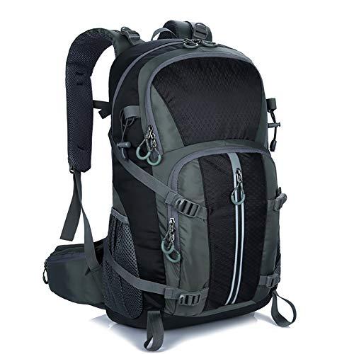 Mornyray Mochila Senderismo 40L, Mochila de Montaña Impermeable Mujer Hombre, Mochila de Viaje Trekking Acampada Caminar con Cubierta Lluvia (Negro)
