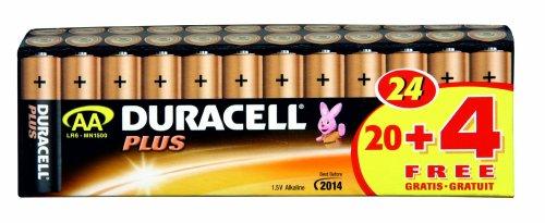 Duracell Batterie Plus Mignon AA 20er + 4 gratis Sonderpack