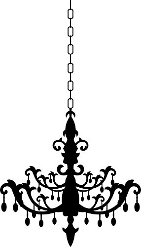 Newclew Burnish Chandelier Vinyl Wall Decal 2 (Chandelier)