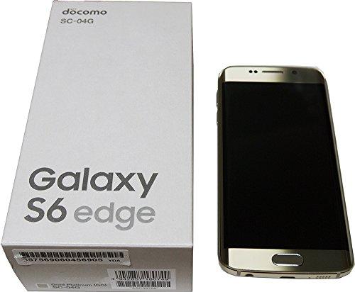 SAMSUNG docomo版 GALAXY S6 edge SC-04G Gold platinum「ゴールド」 白ロム