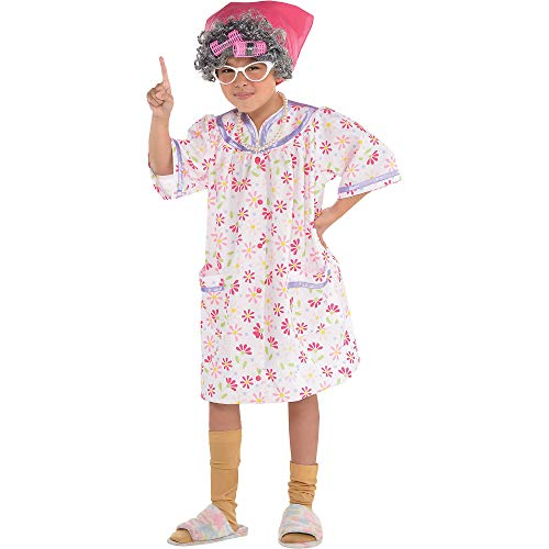 amscan 8400726 Girls Little Old Lady Costume   Medium Size   Party Costume, Multicolor, Medium (8-10)