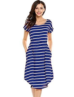 Jump for joy in our Enthusiastic Striped Midi Dress. We're so thrilled to have colorful spring pieces rolling in and this cobalt striped midi dress brings the color for sure!summer attire This flattering midi dress is fitted at the top with bust dart...
