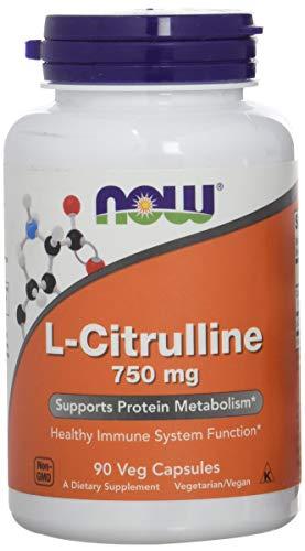 Now Foods L-Citrulline 750mg Standard - 90 Cápsulas