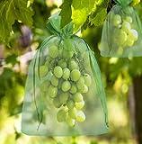50 bolsas de protección para uvas, 45 x 30 cm, de organza, con cordón, para...