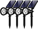 InnoGear Solar Lights Outdoor, Upgraded Waterproof Solar Powered Landscape Spotlights 2-in-1 Wall Light Decorative Lighting Auto On/Off for Pathway Garden Patio Yard Driveway Pool, Pack of 4 (White)