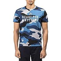 Regular Fit T-shirt Fabric: 100 percent Cotton Neck: Crew Neck Rice knit 190gsm Reflective Back printing ; Camo AOP