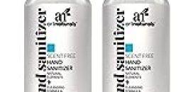 Artnaturals Hand Sanitizer Gel Alcohol Based (2 Pack x 8 Fl Oz / 220ml) Infused with Alovera Gel, Jojoba Oil & Vitamin E - Unscented Fragrance Free Sanitize