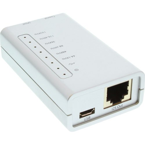 InLine USB HD Adapter, Hi-Fi (24-bit 192KHz) auf Digital Coax/Toslink/I2S Audio Konverter