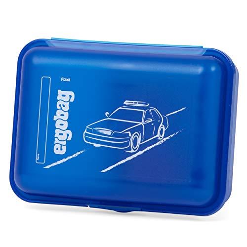 ergobag Brotdose - Trennfach für Obst, BPA-frei - BlauchlichtBär - Blau