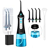 Cordless Water Flosser Oral Irrigator, Nicefeel 300ML 2 Tip Case Portable and Rechargeable Water Flossing for...