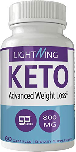 Lightning Keto Pills Natural Pure Ketones BHB Ketogenic Weight Loss 60 Capsules 800 MG GO BHB Salts to Help Your Body Enter Ketosis More Quickly 1
