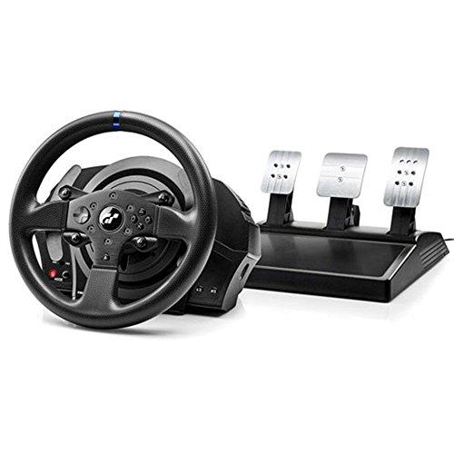 Thrustmaster T300RS GT, Volant de Course et 3 Pédales, PS4 et PC, Retour de Force, Moteur Sans Balais, Double Courroie, Lecture Magnétique, Volant Interchangeable, fonctionne avec les jeux PS5