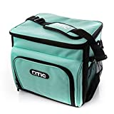RTIC Day Cooler 28 Can, Aqua, Soft Sided Insulated Bag, Dual Compartment, Leak Proof