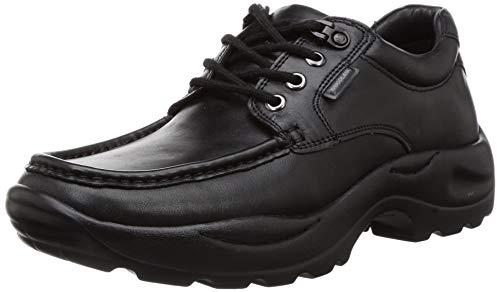 Woodland Men's 3197118 Black Leather Sneaker-9 UK (43 EU) (10 US) (GC 3197118BLACK)