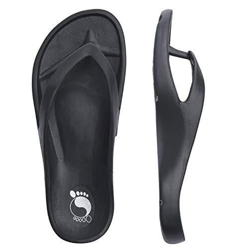 KRABOR Chanclas de Mujer Zapatos de Hombre para la Playa Sandalias EVA Suaves de Verano, Unisex Adulto Negro Talla 41 EU