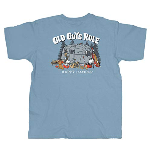 OLD GUYS RULE T Shirt for Men | Happy Camper | Stone Blue