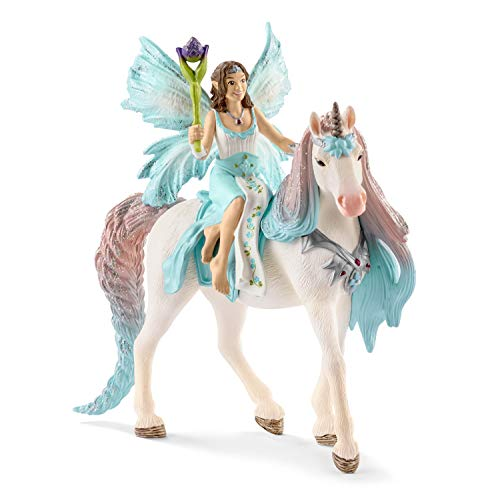 SCHLEICH bayala Fairy Princess Eyela with Sparkly Unicorn Toy from The Princess and The Unicorn Movie for Kids Ages 5-12