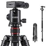 Treppiede Fotocamera ESDDI 160cm Treppiede Alluminio Cavalletto Fotografico Con Monopiede e 360° Testa a Sfera per Canon Nikon Sony Samsung Olympus DSLR
