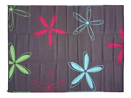 Rv Mat Patio Rug Colorful Floral Design 9x12