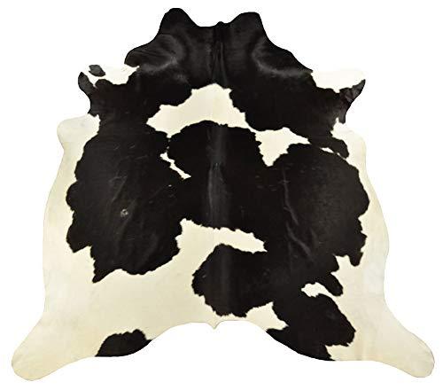 Montecarlo-Designs Tappeto di Mucca Bianco Nero