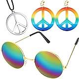 Ensemble d'Accessoire de Déguisement de Hippie des Années 60 70,...