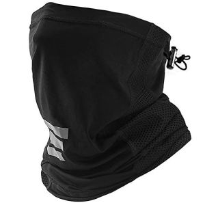 Cooling Neck Gaiter with Drawstring, Sun Dust Protection Face Cover