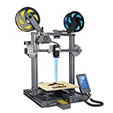 LOTMAXX Shark V2 3D Printer, Laser Engraving & Bi-Color Printing 2 in 1, Preassembled 3D Printer Machine with Dual Extruder, Print Size 235x235x265mm, (Space Gray)