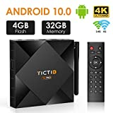 TICTID Android TV Box 10.0 avec Antenne Externe 【4GB DDR3 + 32GB ROM】 T6 Pro...