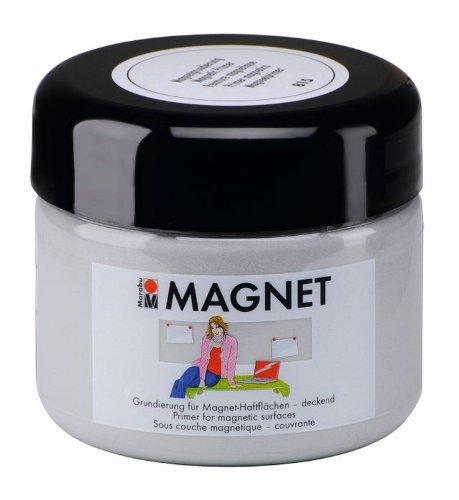 Marabu 02600025815 - Magnetfarbe, Acrylgrundierung für magnetische Flächen, nach Trochnung übermalbar, wasserfest und lichtecht, 3 - 4 Schichten kreuzweise auftragen für bessere Magnetkraft, 225 ml