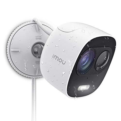 Imou Esterno Telecamera di Sicurezza Impermeabile IP65, Videocamera di Sorveglianza da 1080p con Difesa Attiva, Telecamera IP con rilevamento di Movimento PIR, Audio bidirezionale e Visione Notturna