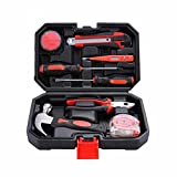 Herramientas 9 piezas Inicio de reparación Kit de Supervivencia Inicio Maletín del sistema de herramienta del sistema de herramienta práctica for cualquier emergencia en el hogar, el coche, autocarava