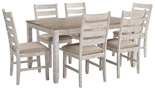 Signature Design by Ashley - Skempton Dining Room Table and Chair Set - 7 Piece Set - Antique White