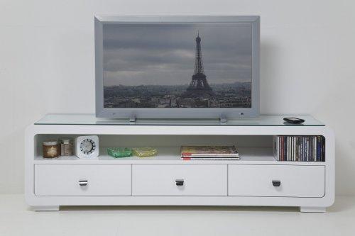 Freudenhaus White Club TV Panca con 3cassetti Mobile TV TV Rack by Kare Design