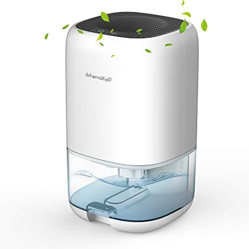 AUZKIN Luftentfeuchter Elektrisch 1000ml, Automatischer Entfeuchter Raumentfeuchter Dehumidifier Tragbar und Kompakt, gegen Feuchtigkeit, Ultra Leise für Schrank, Badezimmer, Schlafzimmer, Weiß