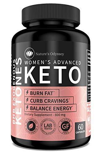[Nature's Odyssey] Premium Keto Diet Pills for Women - Keto Supplement to Burn Fat for Energy, Curb Appetite and Focus - Keto BHB Pills 800mg - 60 Keto BHB Capsules in Each Bottle