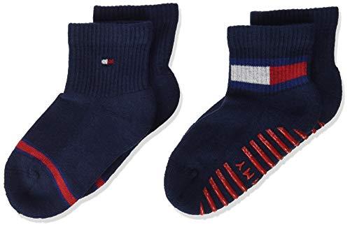 Tommy Hilfiger Baby Flag Socks (2 Pack) Calzini, Tommy Original, 19/22 EU Unisex-Bimbi