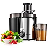 ARLIME Juicer Machines with 2.5inch Wide Mouth, 400W Masticating Juicer Extractor, Stainless Steel Centrifugal Juicer,2 Speed Mode,Easy to Clean (2 Speed Mode)