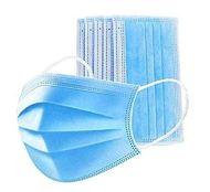 50 protezioni per il viso, chirurgiche, con passanti per le orecchie, antipolvere, di tipo medico, 3 strati