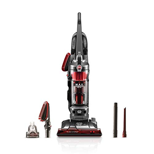 Hoover WindTunnel 3 Max Performance Upright Vacuum Cleaner, HEPA Filter and Powerful Suction for Pet Hair, UH72625, Red