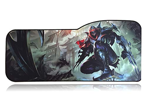 Extended Size Custom Professional Gaming Mouse Pad - Anti Slip Rubber Base - Stitched Edges - Large...