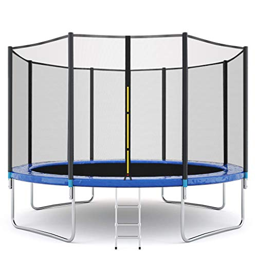 TIS_SUIT 12 FT Kids Trampoline with Enclosure Net Jumping Mat and Spring Cover Padding Trampoline with Safety Enclosure Net,Ladder Trampoline for Kids,Jumping Mat and Spring Cover Padding Outdoor