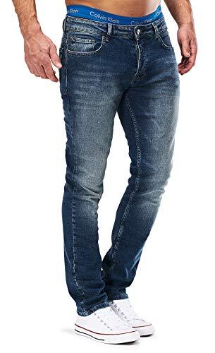 MERISH Jeans Herren Slim Fit Jeanshose Stretch Designer Hose Denim 501...