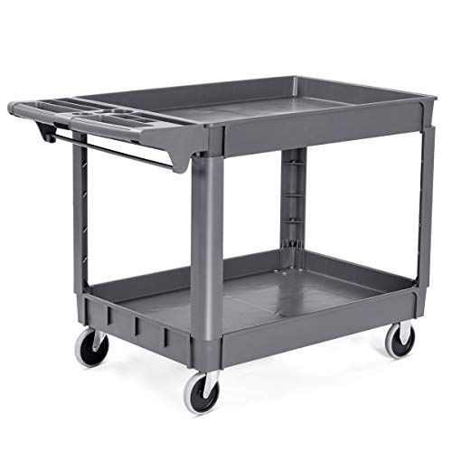 Goplus Plastic Service Cart Utility Storage Cart for All Purpose 550 LBS...
