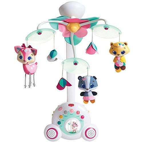 Tiny Love Baby-Mobile, hochwertiges 2-in-1 Musik-Mobile mit 18 wundervollen Melodien und 40 Min. Spieldauer, auch als tragbare Musik-Box nutzbar, Baby-Spieluhr ab der Geburt (0M+), Tiny Princess Tales