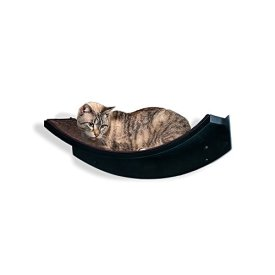 The Refined Feline Lotus Leaf Cat Shelf, Espresso
