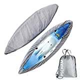 PECHAM Kayak Cover, 9.3-13.5ft Waterproof Durable Canoe Storage Dust Cover UV Protection Sunblock Shield for Fishing Boat/Kayak/Canoe/Paddle Board(9.3-10.5ft)