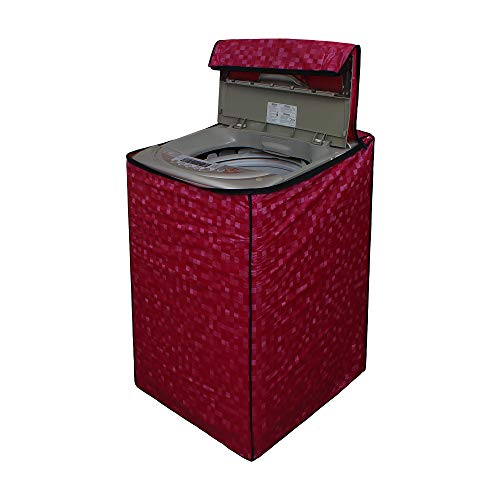 Star Weaves Washing Machine Cover for Fully Automatic Top Load LG T7281NDDL 6.2Kg Model - Waterproof & Dustproof Cover, Dark Pink